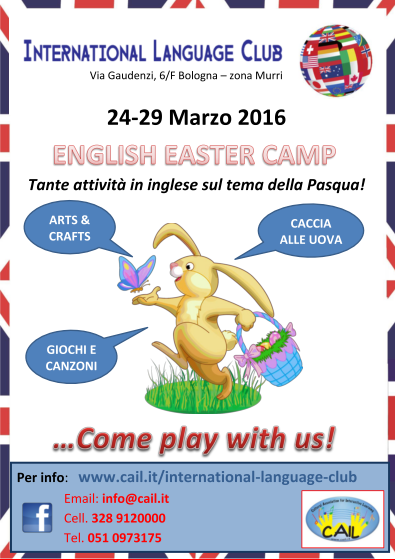 Volantino Easter Camp