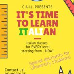 IT'S TIMETO LEARNITALIAN