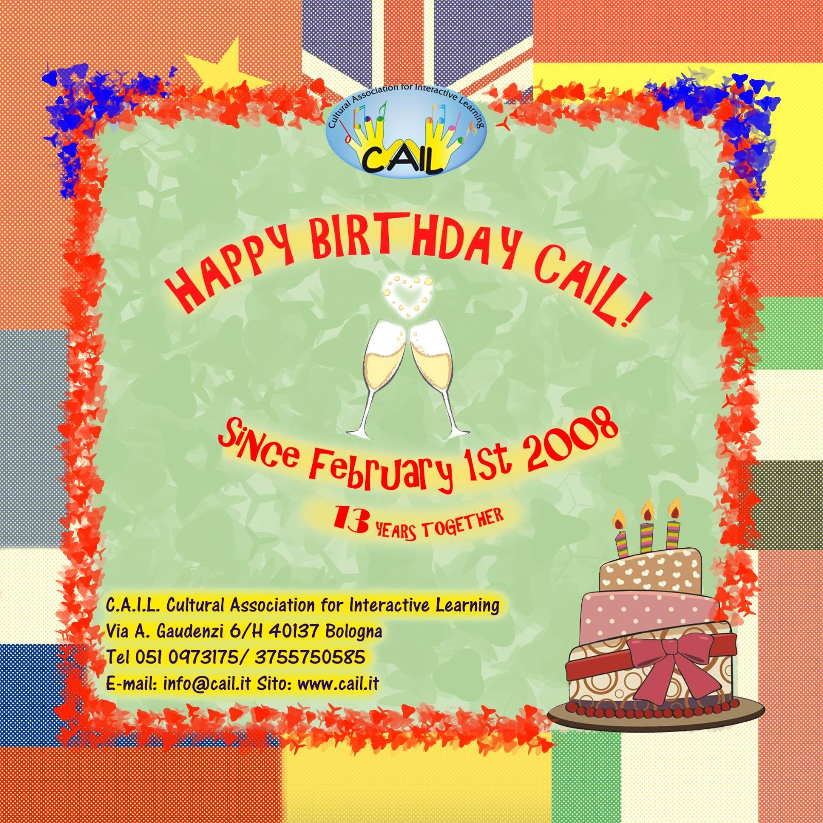 13° Compleanno di CAIL!